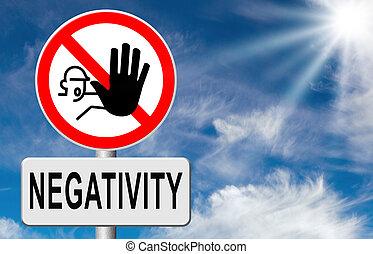 pessimismus, halt, negativität, nein