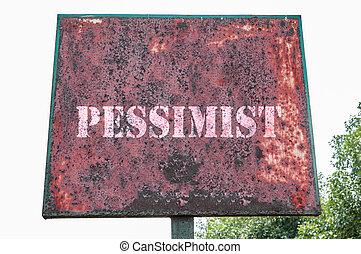 pessimista, mensagem texto