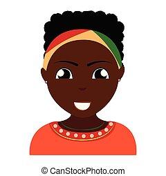 pessoa, abstratos, étnico
