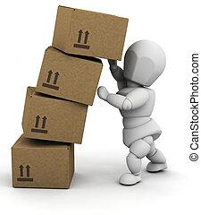 pessoa, caixas