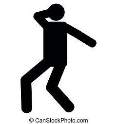 pessoa, dançar, ícone