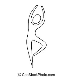 pessoa, dançar, figura, ícone
