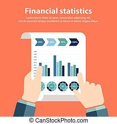 pessoa, estatísticas, financeiro, negócio, analisando