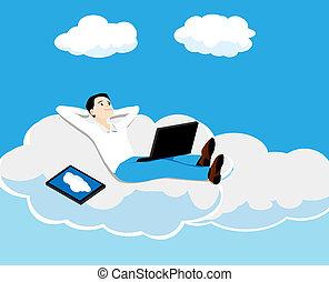 pessoa, nuvem