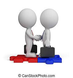 pessoa, reunião, negócio, 3d