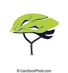 pessoa, vetorial, protection., ícone, desporto, segurança, bicicleta, apartamento, bicicleta raça, choque, cycle., cabeça, transporte, capacete, chapéu, atividade, equipamento