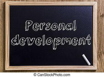 pessoal, desenvolvimento, -, novo, chalkboard, com, 3d, esboçado, texto