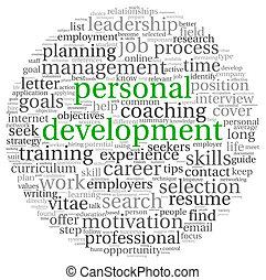 pessoal, desenvolvimento, tag, nuvem