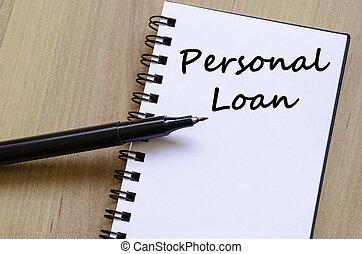 pessoal, escreva, empréstimo, caderno
