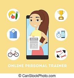 pessoal, trainer., online
