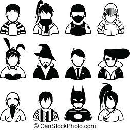 pessoas, ícone