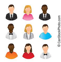pessoas, ícones
