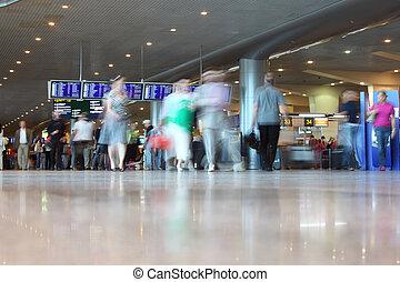 pessoas, aeroporto