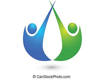 pessoas, amigos, negócio, logotipo