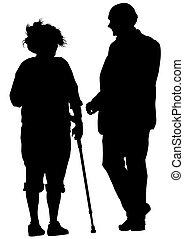pessoas anciãs, dois