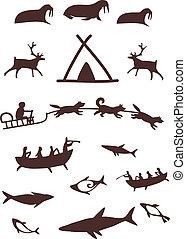 pessoas., animais, norte