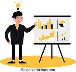 pessoas, apresentação, negócio