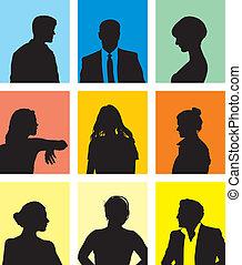 pessoas, avatars