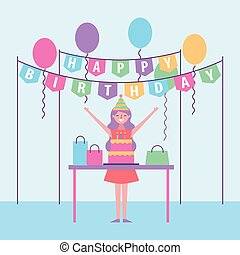 pessoas, celebração aniversário