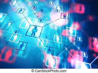 pessoas, conectado