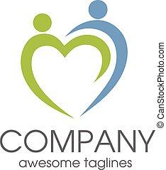 pessoas, cuidado, logotipo
