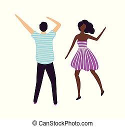 pessoas, dançar, clube, discoteca, dançarino, noturna, clubbers