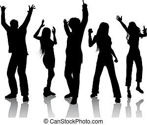 pessoas, dançar