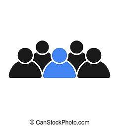 pessoas., equipe, grupo, líder, social