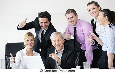 pessoas, equipe, negócio