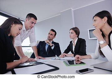 pessoas escritório, reunião, negócio