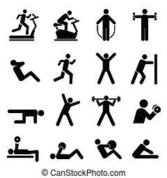 pessoas, exercitar