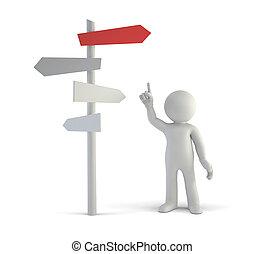 pessoas, fazer, -, melhor, pequeno, decisões, 3d