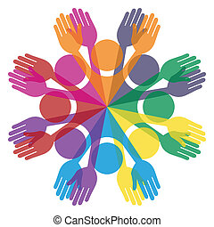 pessoas., grupo, coloridos
