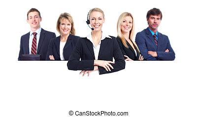 pessoas, grupo, negócio, banner.