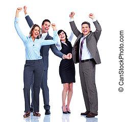 pessoas, Grupo, sucesso, negócio