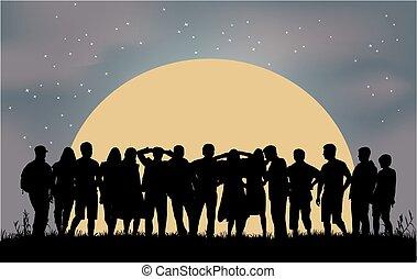 pessoas, grupo