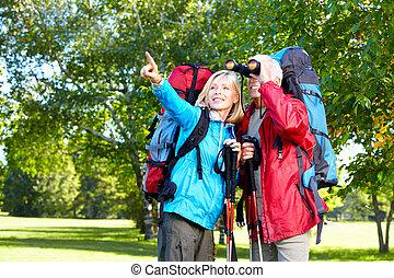 pessoas., hiking