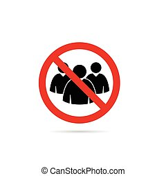 pessoas, ilustração, sinal