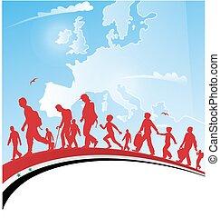 pessoas, imigração