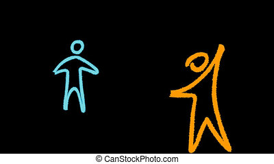 pessoas, interligação, educação