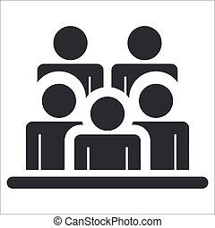 pessoas, isolado, ilustração, único, vetorial, ícone