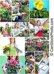 pessoas., jardinagem