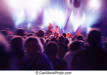 pessoas, ligado, concerto música