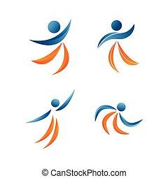 pessoas, logotipo, desenho, modelo, vetorial