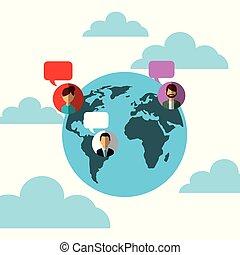 pessoas, mídia, globo, fala, social, mundo, bolhas