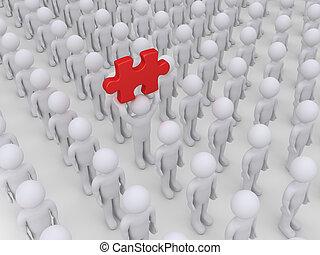 pessoas, muitos, solução, mas, um, achados