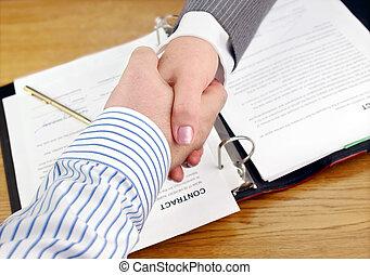pessoas negócio, agitação, hands.