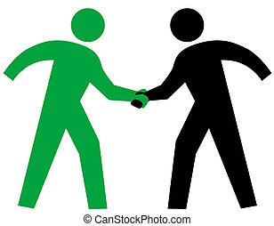 pessoas negócio, aperto mão