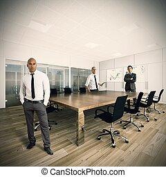 pessoas negócio, em, um, escritório