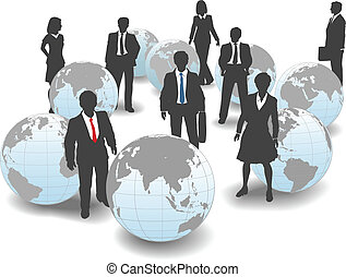 pessoas negócio, global, mão-de-obra, equipe, mundo